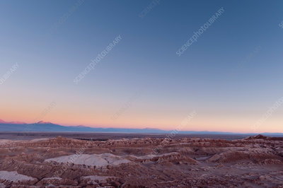 Sunset view over Valley of the Moon, Atacama Desert, Chile