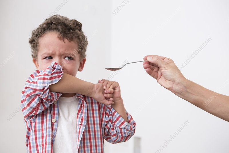 Boy refusing to take medication