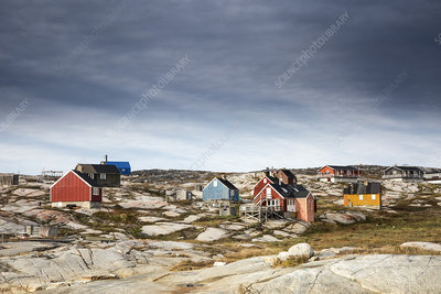 Craggy, remote, vibrant fishing village, Greenland