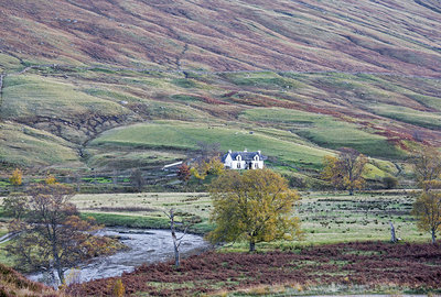 House in remote, rural glen, Glen Lyon, Scotland