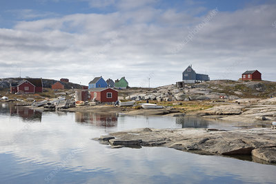 Remote fishing village, Greenland