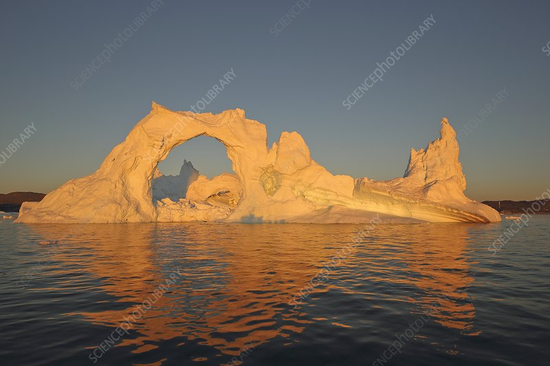 Iceberg at sunset, Greenland