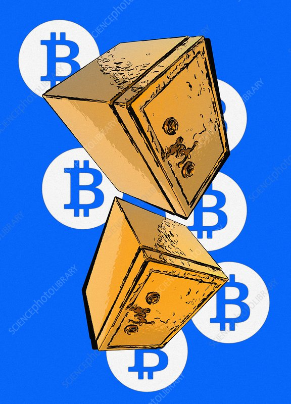 Bitcoin security, conceptual illustration
