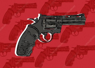 Handgun, illustration