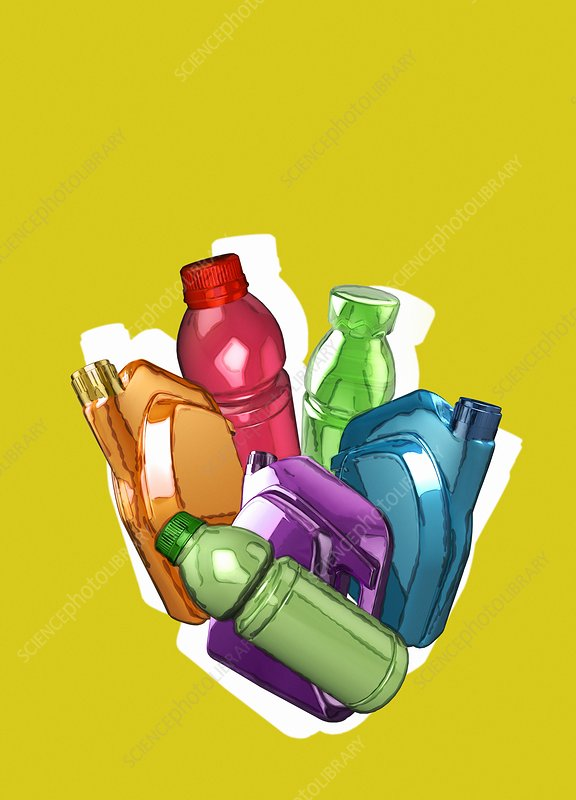 Plastic containers, illustration