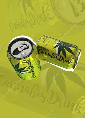 Cannabis drinks, illustration
