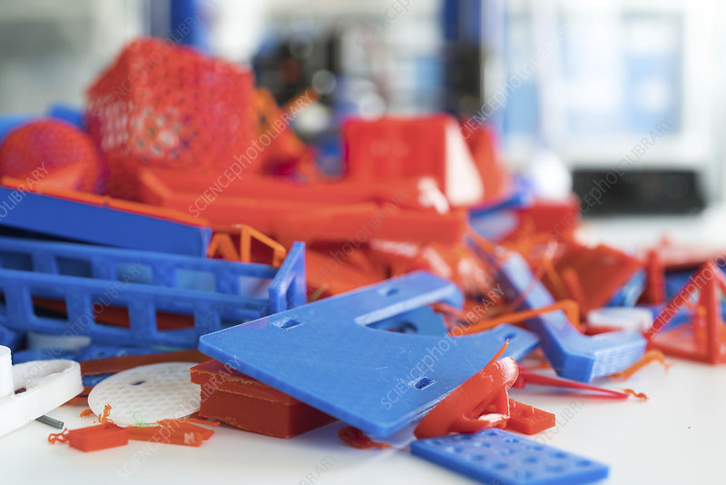 Plastic waste from 3D printing