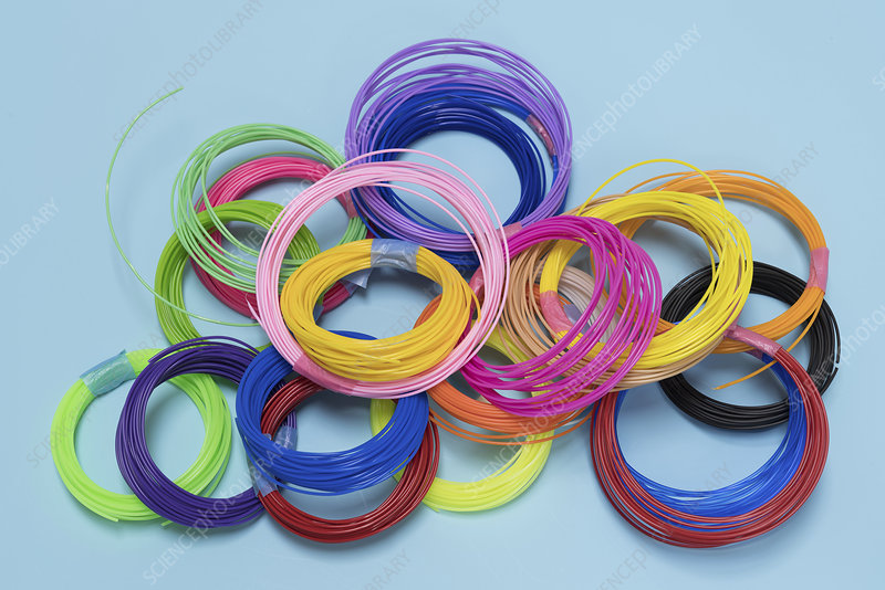 Plastic filaments for 3D printing