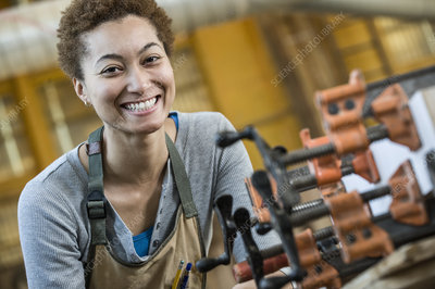 Worker in a woodworking factory