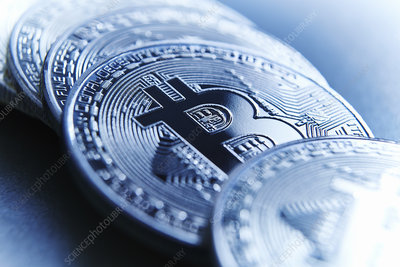 Close up Bitcoins