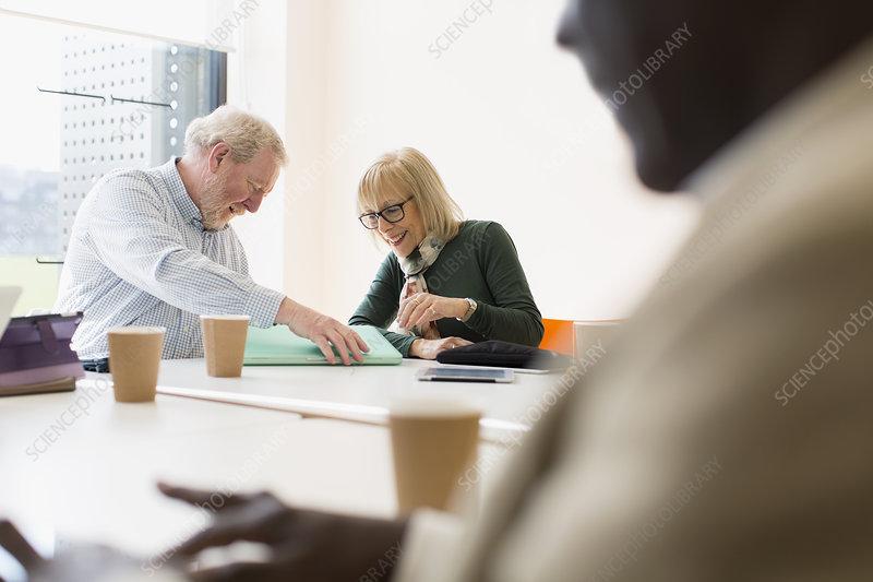 Senior business people in meeting