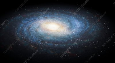 Milky Way galaxy, illustration