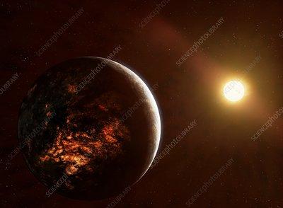 Volcanic Planet 55 Cancri e, illustration