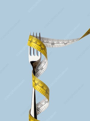 Fork with tape measure
