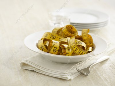 Pasta bowl with tape measure