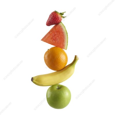 Stack of fresh fruit