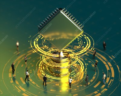 Computing trophy, conceptual illustration