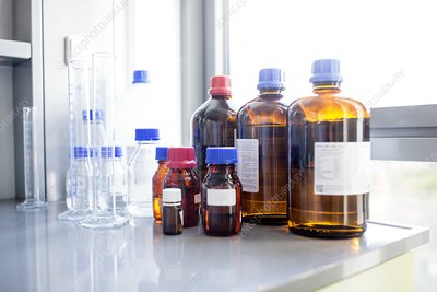 Laboratory solutions and glassware