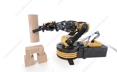 Robotic arm using building blocks