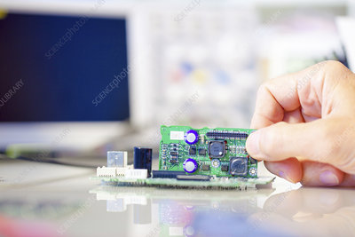 Assembling electronics device
