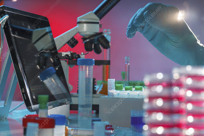Medical research, conceptual image