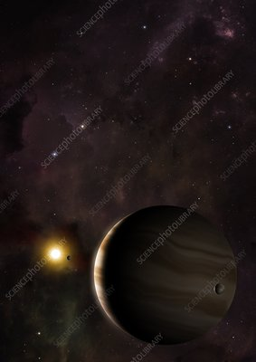 Wasp 39b hot Saturn exoplanet, illustration