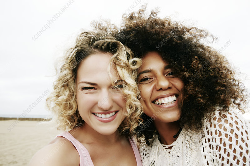 Smiling young women