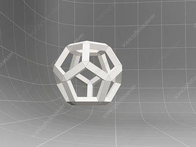 3D geometric object, illustration