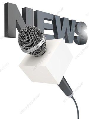 News microphone, illustration