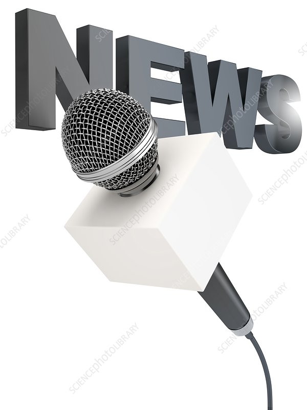 News microphone, illustration