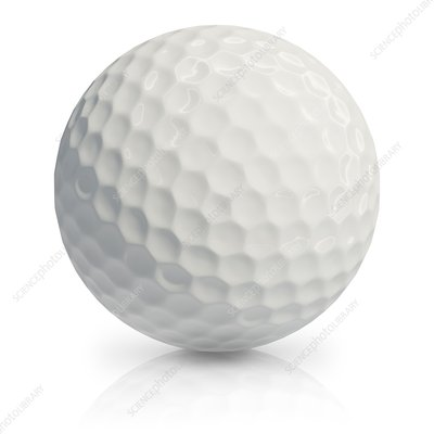Golf ball, illustration