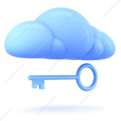 Cloud technology, conceptual illustration