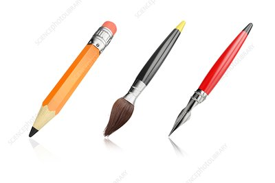 Art tools, illustration