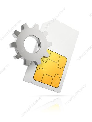 Sim card settings, conceptual illustration