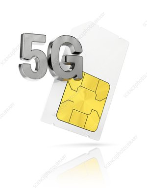 5G sim-card, illustration