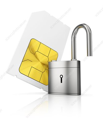 Sim-card security, conceptual illustration