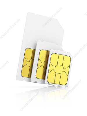 Sim cards, illustration
