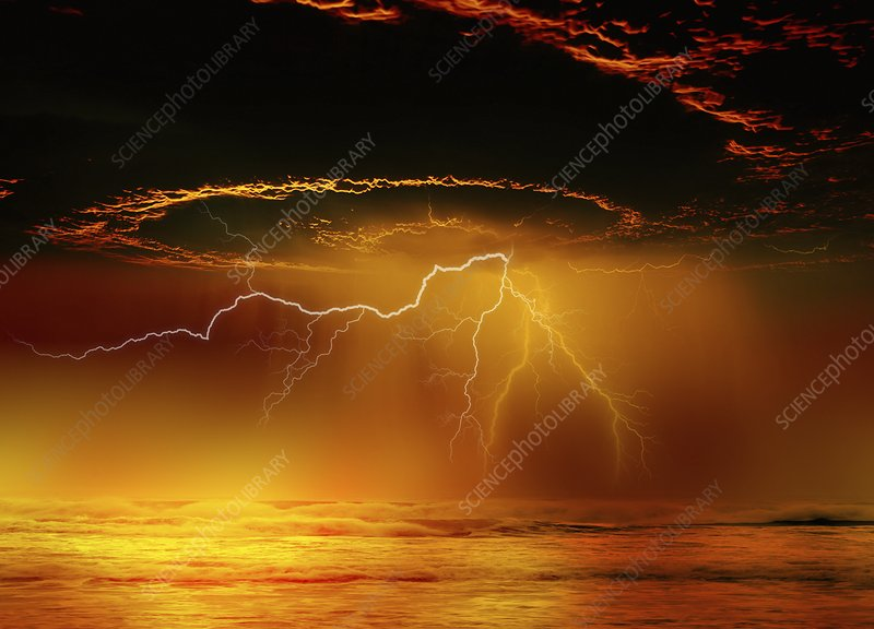 Storm Clouds And Lighting Ilration