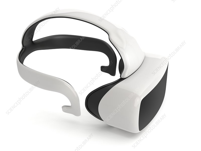 Virtual reality headset, illustration