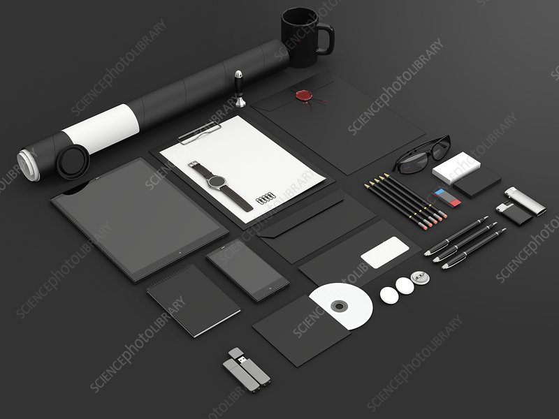 Office equipment, illustration