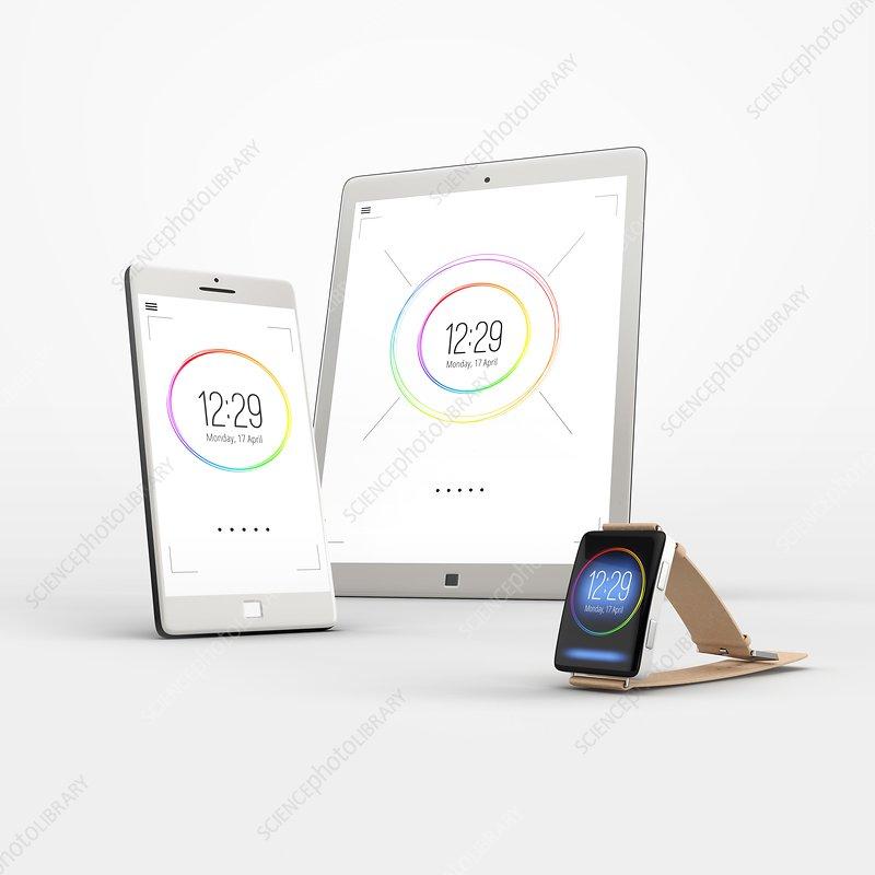 Smart devices, illustration