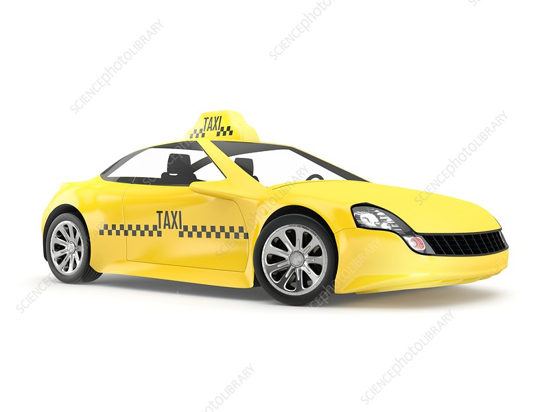 Yellow taxi, illustration