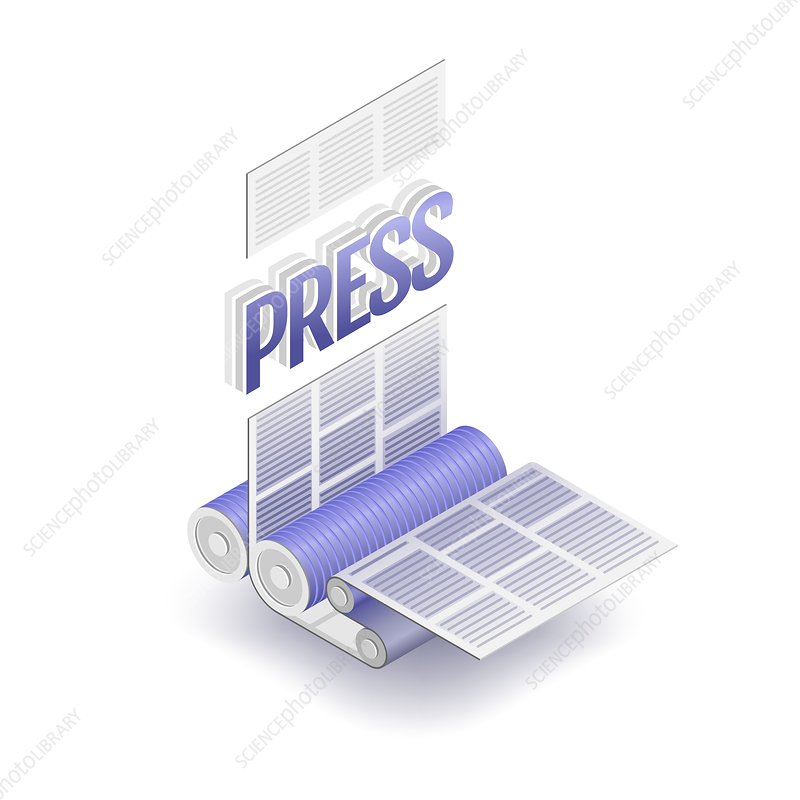 Printing press, conceptual illustration