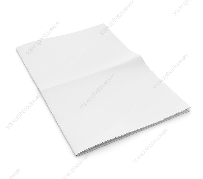 Blank newspaper, illustration