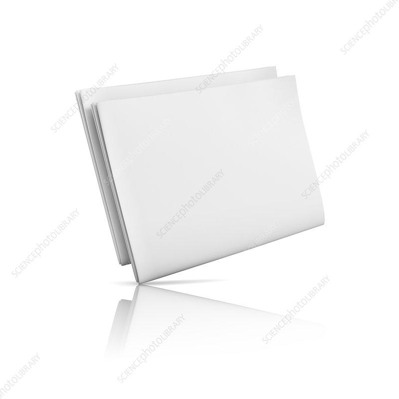 Folded blank newspaper, illustration