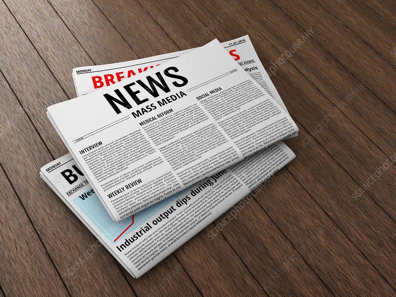 Newspapers, illustration