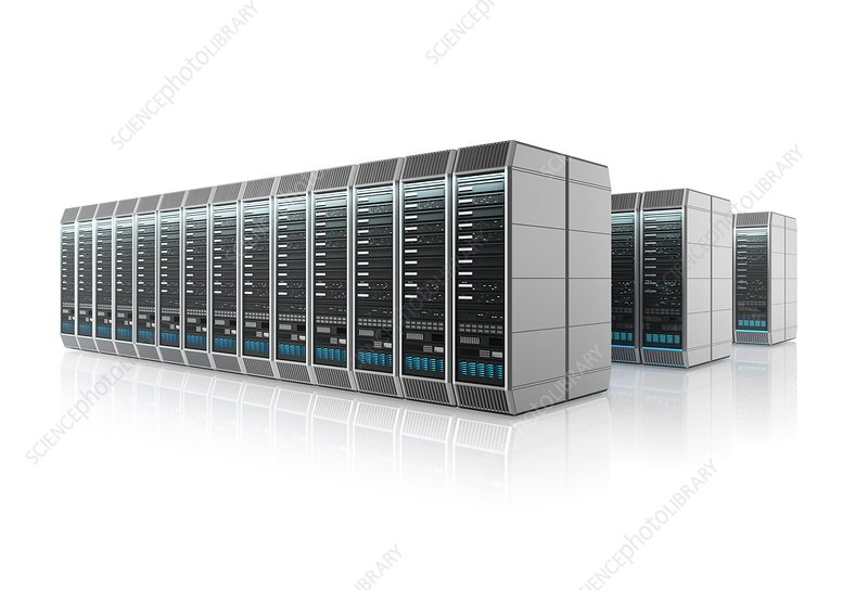 Data centre, illustration
