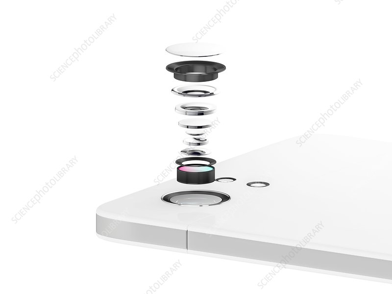 Smartphone camera lens, illustration