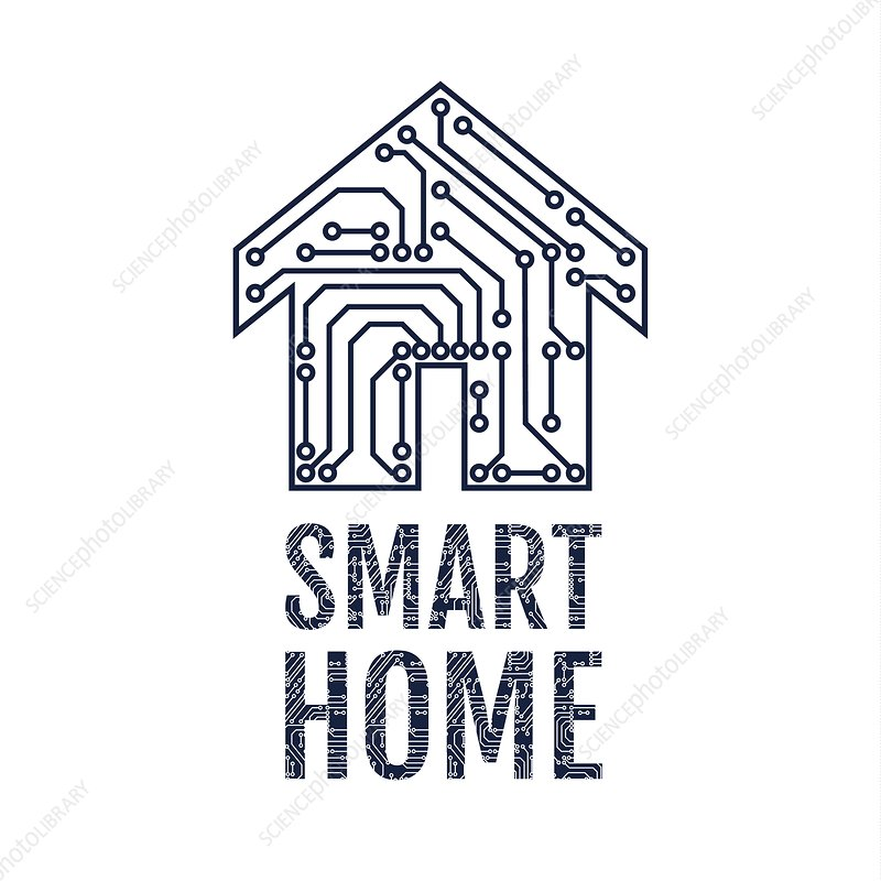 Smart home, conceptual illustration