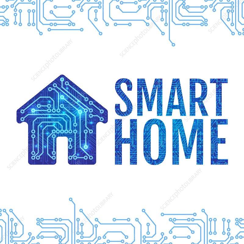 Smart home, conceptual illustration